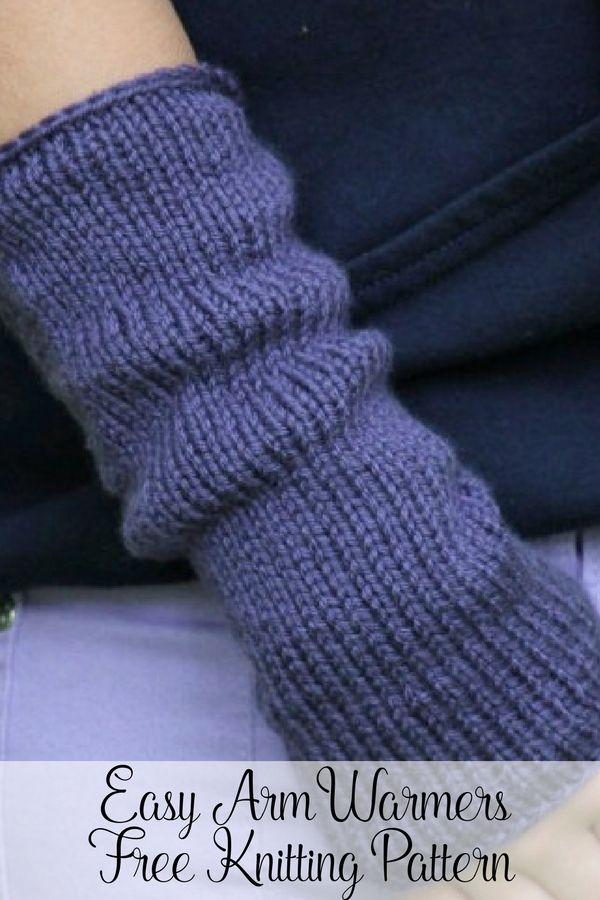 Free Arm Warmers Knitting Pattern   Arm warmers, Knitting patterns ...