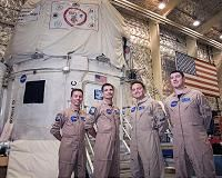"""Houston TX (SPX) Jun 01, 2016 After 30-days in the confines of a simulated spacecraft, the HERA Mission 10 crew will """"splashdown"""" on the evening of Wed., June 1. HERA-the Human Exploration Research Analog-is one of several analogs used by the Human Research Program (HRP) to research ways to help NASA astronauts move from lower-Earth orbit to deep space…"""