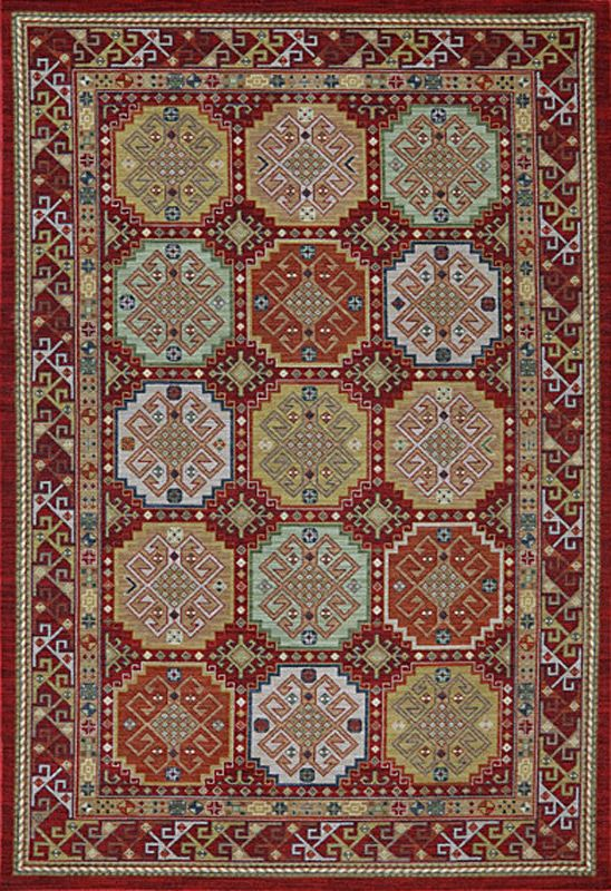 Briarcreek Garnet Karastan Rug Geometric Pattern With Colourful Colour Palette Imperial Carpet Home