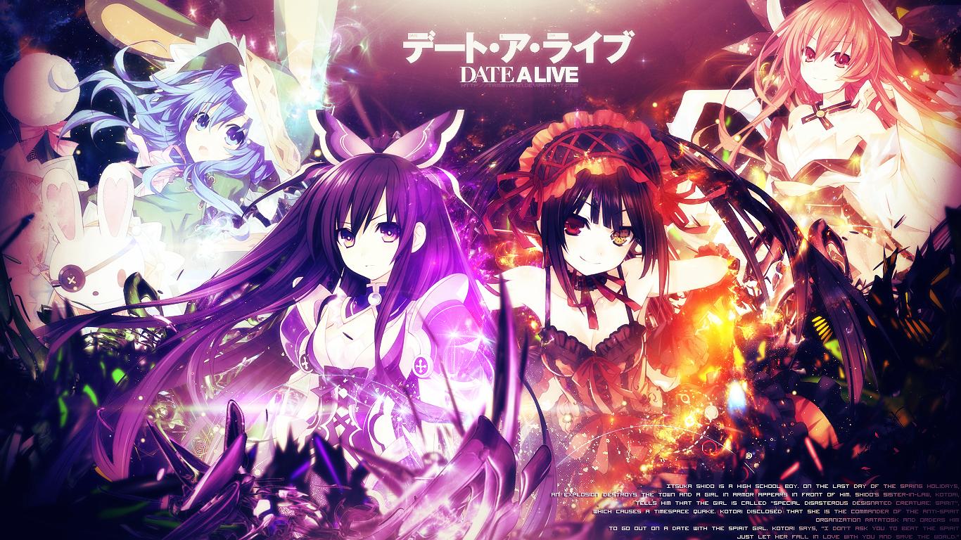 Yoshino, Kurumi Tokisaki Wallpaper and Background Image | 1366x768