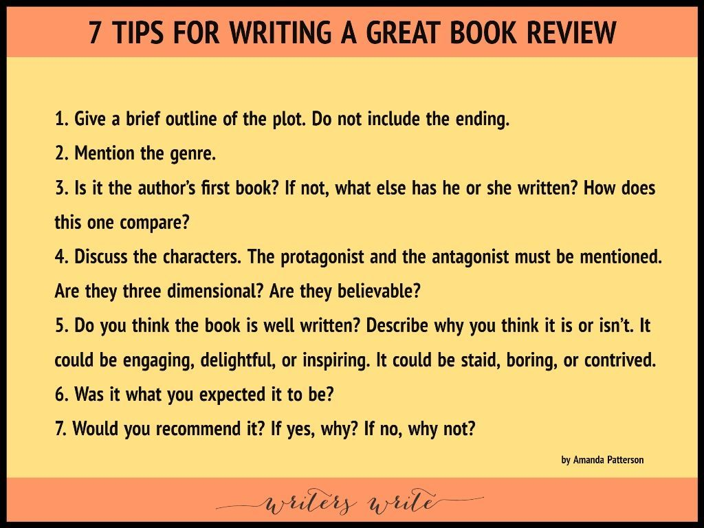 7 Tips For Writing A Great Book Review