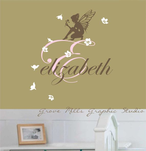 fairy wall decal - girls wall decal - fairy wall art - fairy wall
