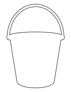 Bucket Pattern Use The Printable Outline For Crafts Creating