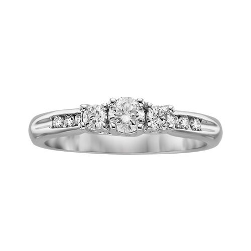 Fred Meyer Jewelers 1 2 Ct Tw Diamond 3 Stone Ring 3 Stone Rings Stone Rings Three Stone Rings