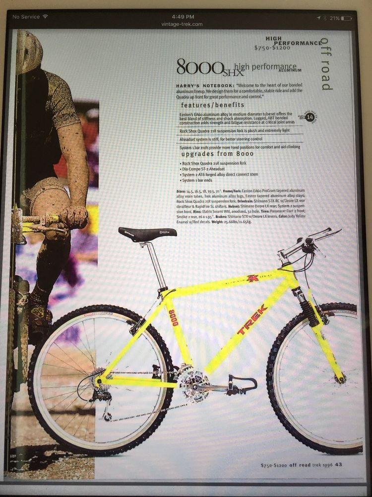 Yellow Trek Bike : yellow, Bike,, Yellow,, Aluminum, Bonded, Frame, Bikes,, Offroad,