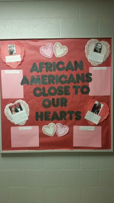 black history month bulletin board with prompts african