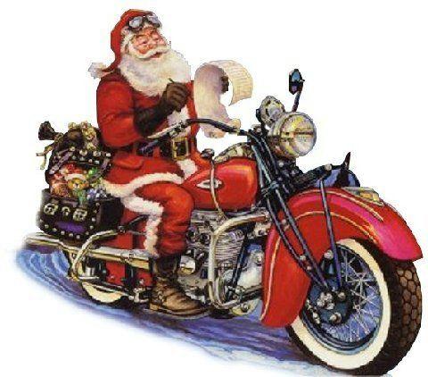 Christmas Motorcycle Christmas Santa Art Christmas Pictures