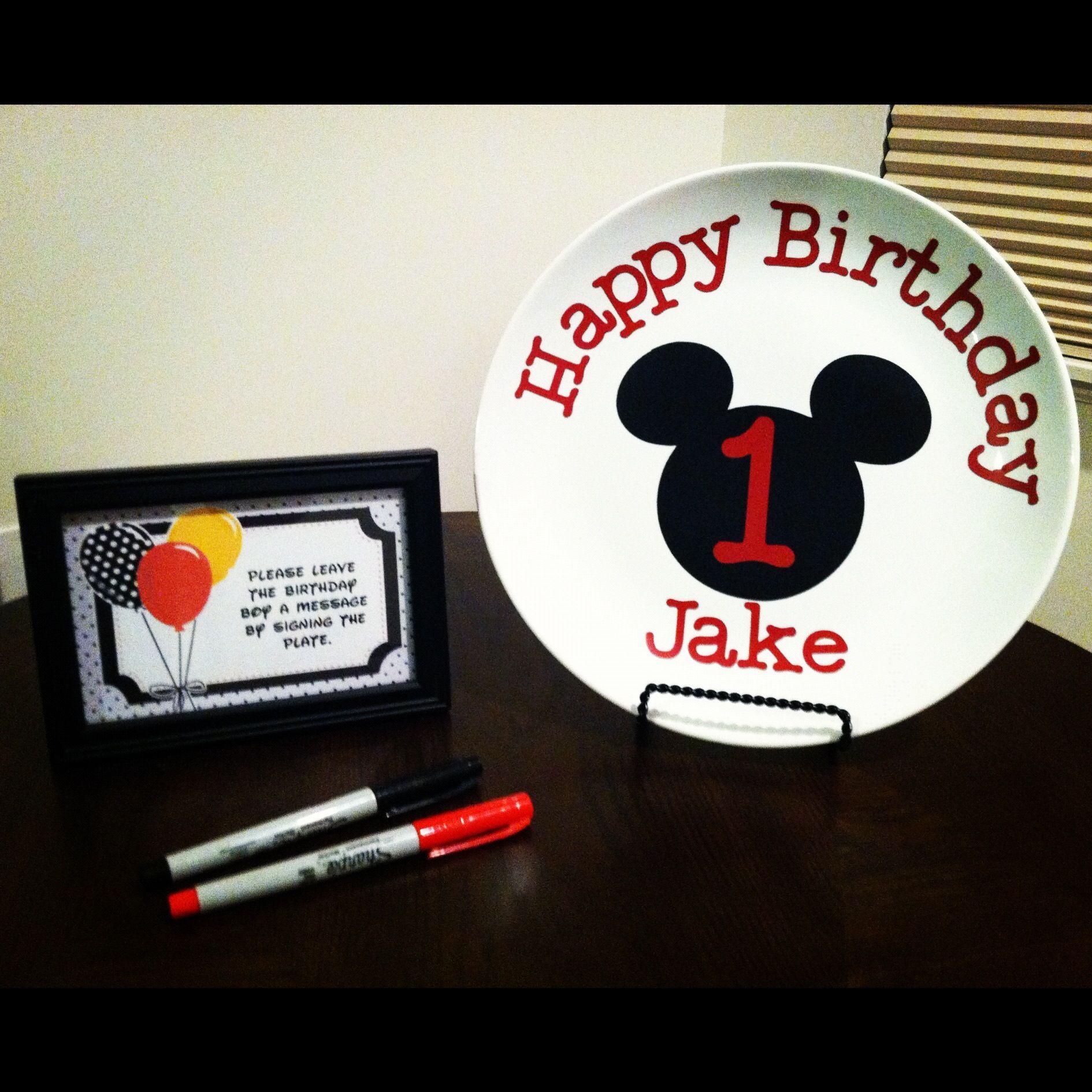 Mickey Mouse 1st Birthday Cricut Vinyl Mickey And