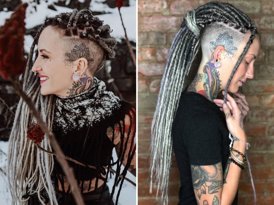 image 0 Synthetic dreads, Dreadlock extensions, White