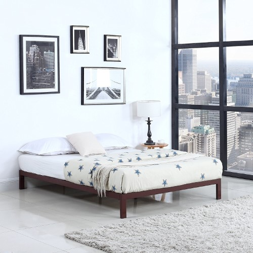 Modern 8 Low Metal Platform Bed Frame Mattress Foundation Twin
