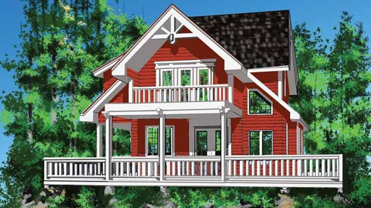 Cottage House Plan with 1286 Square Feet and 2 Bedrooms from Dream - forum plan de maison
