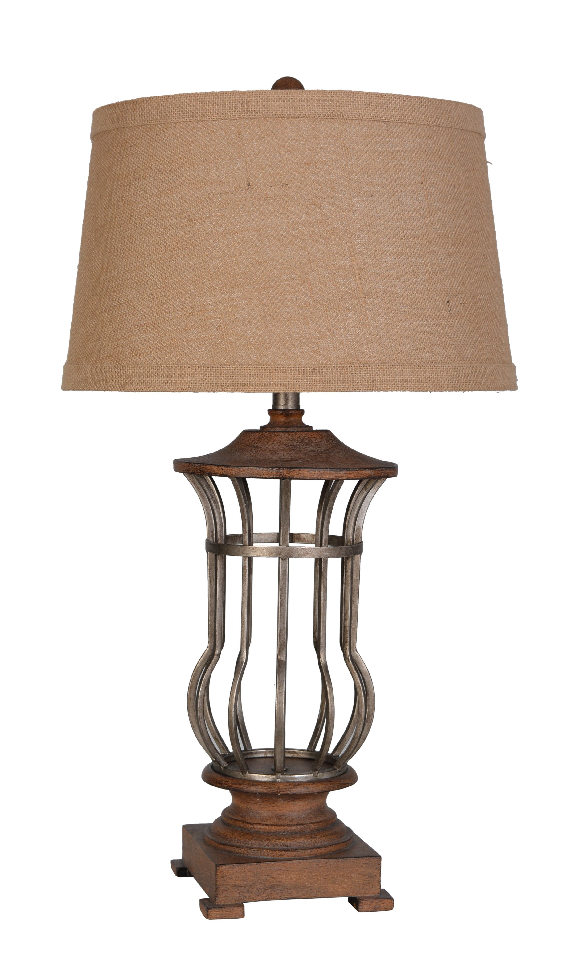 LPS 190: Metal And Polyresin Table Lamp By Lamps Per Se