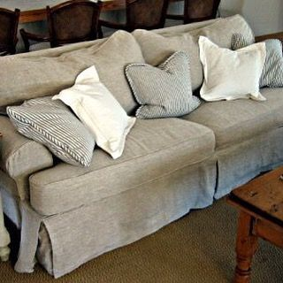 Tbt Classic Slipcover In Our Lido Flax Linen Fabric Slouchy