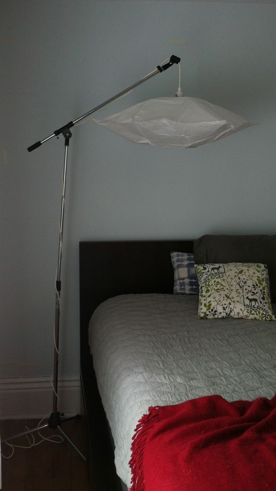 Microphone Stand And Ikea Lamp Accroche