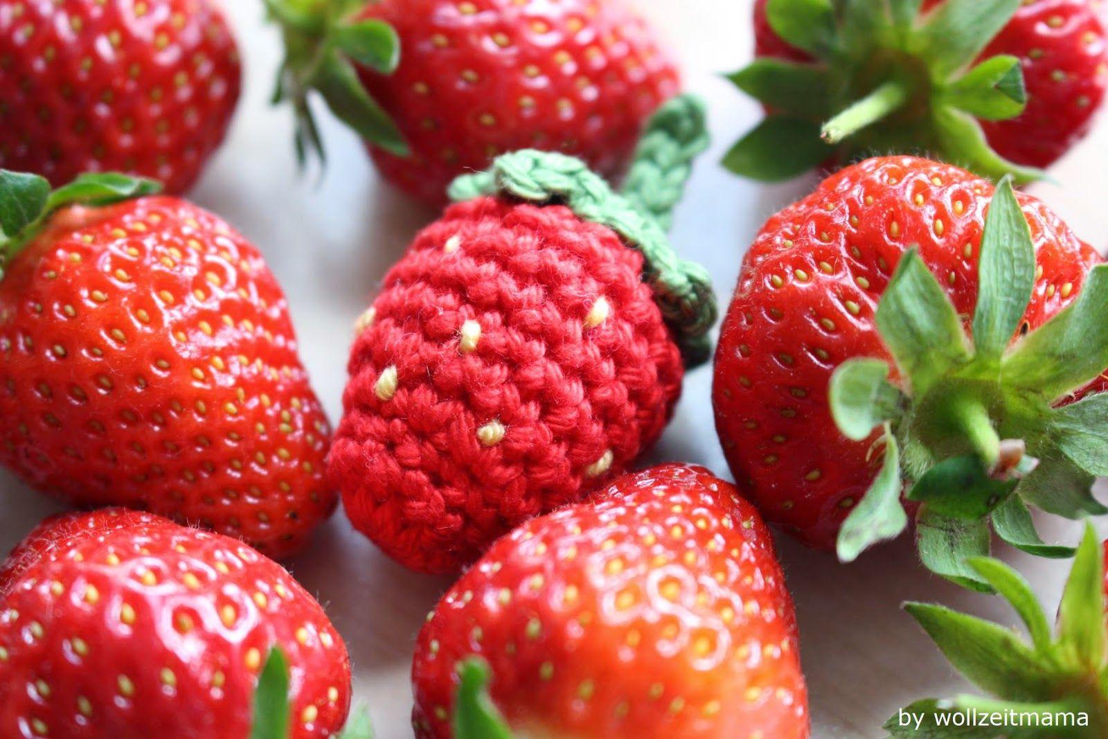 Erdbeeren Häkeln Für Kinderküche Und Halskette Anleitung