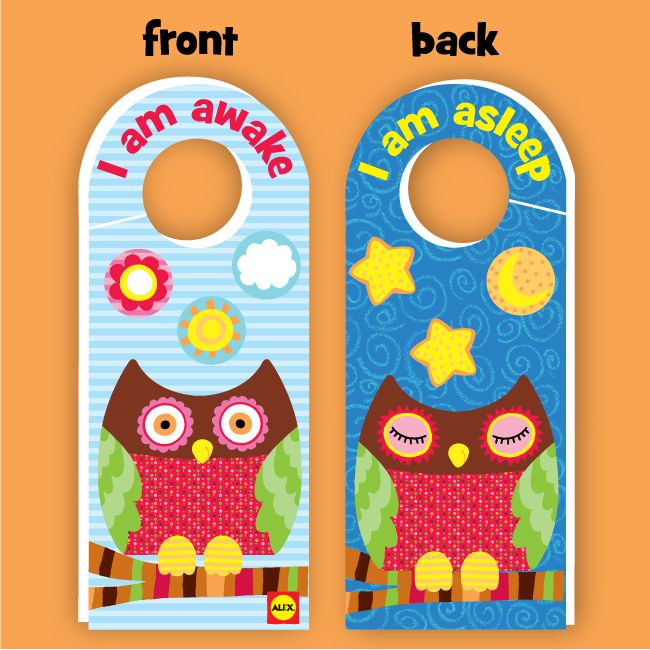 Printable Double Sided Owl Door Hanger  Hanger Free Printable