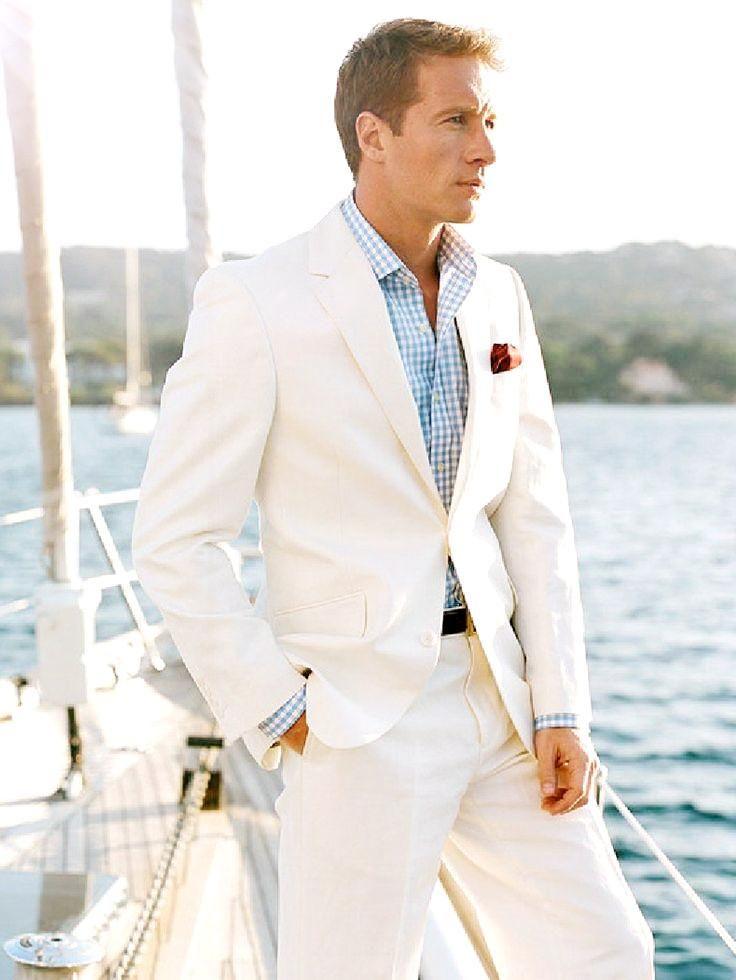 2015 White Linen Blazer Custom Made Linen Suit ,Sharp Look Tailored ...