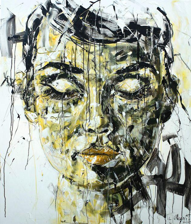 APAISEMENT Acrylique & fusain sur toile 100x120cm 2017 http://www.lucile.callegari.fr