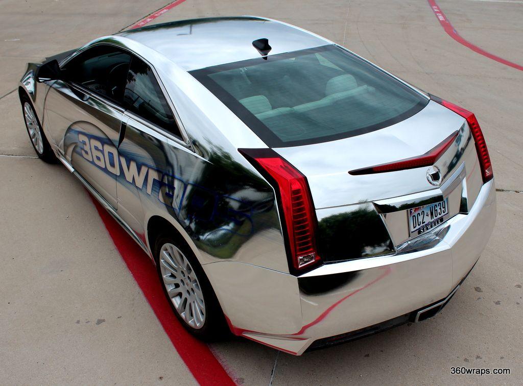 360 Wraps Custom Cadillac CTS Chrome Vehicle Wrap 360