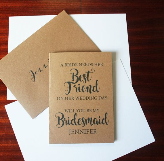 Gift For Best Friend On Her Wedding Day: Beautiful Personalised Way To Ask Your Best Friend To Be