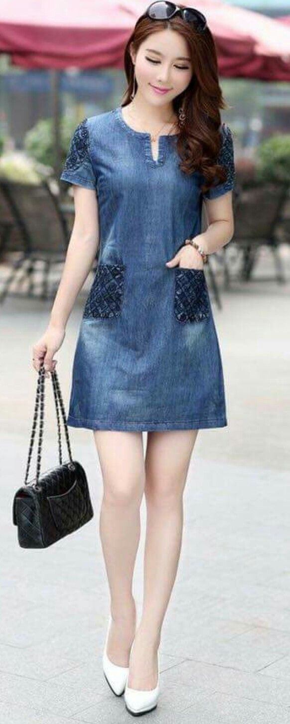 a89d5ec598b Short dress Mezclilla. Short dress Mezclilla Summer Denim ...