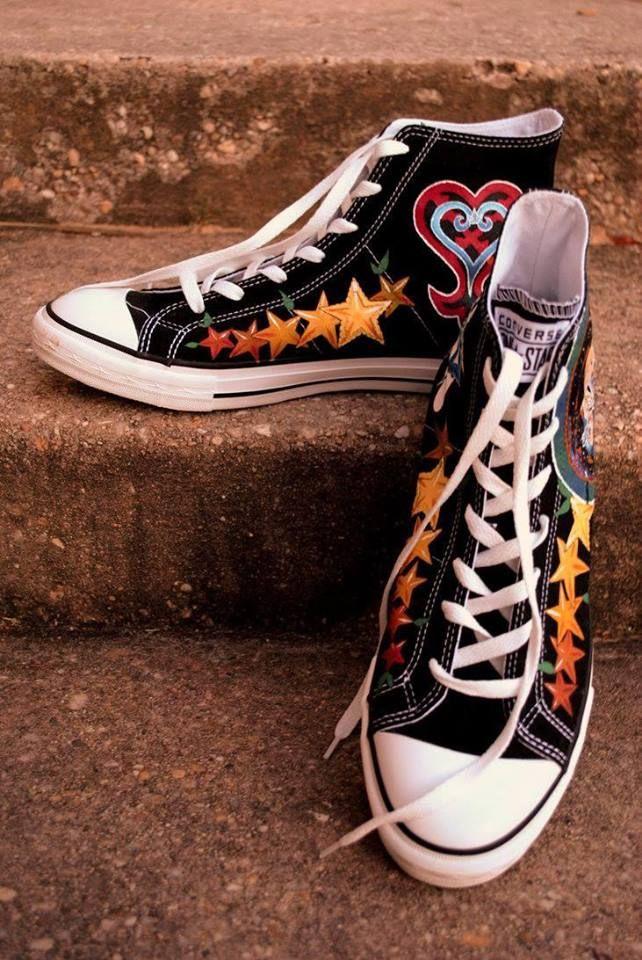 Kingdom hearts, Heart shoes, Disney shoes