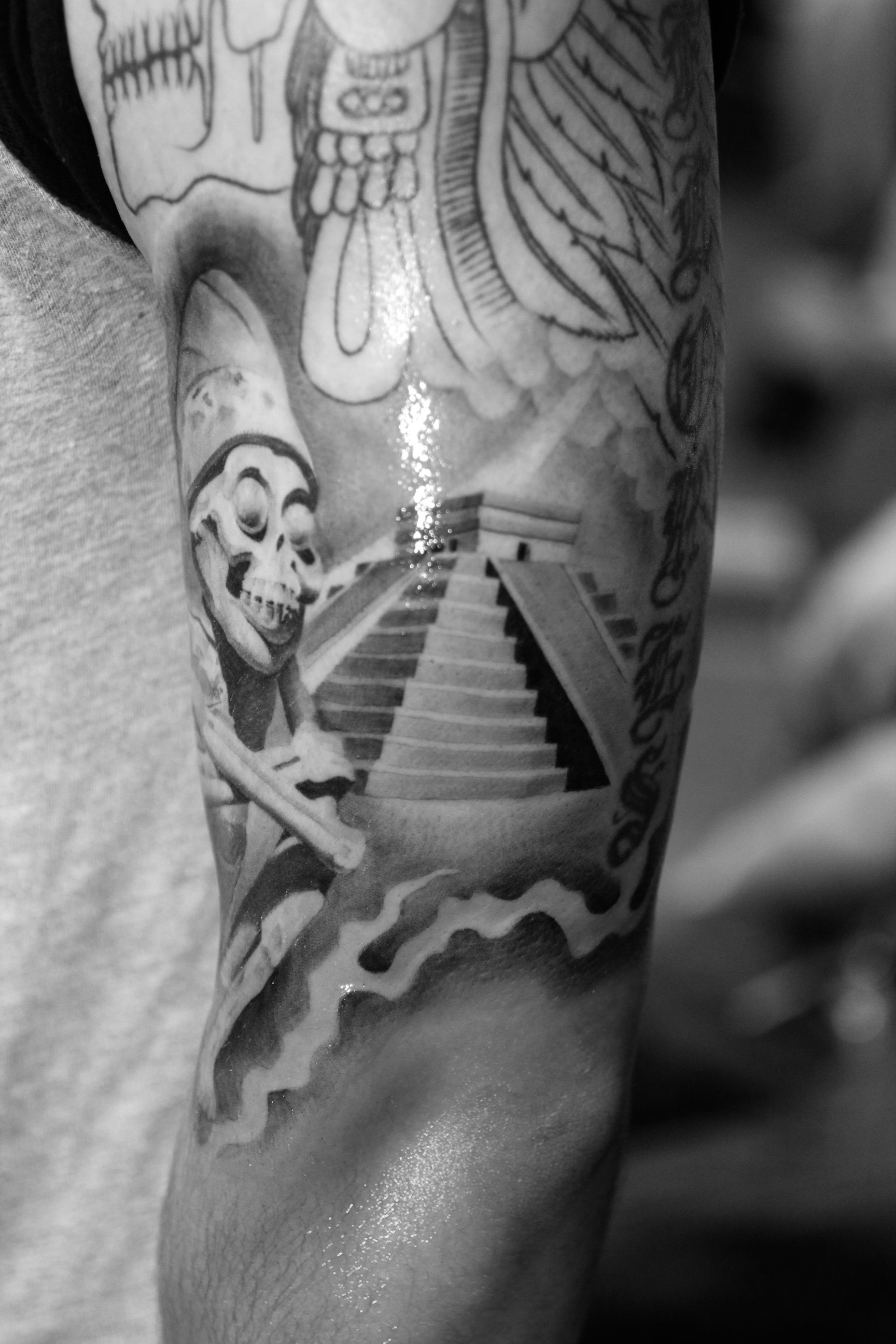 Aztec Tattoos Design Ideas For Men and Women | More Aztec ... Aztec Calendar Sleeve Tattoos