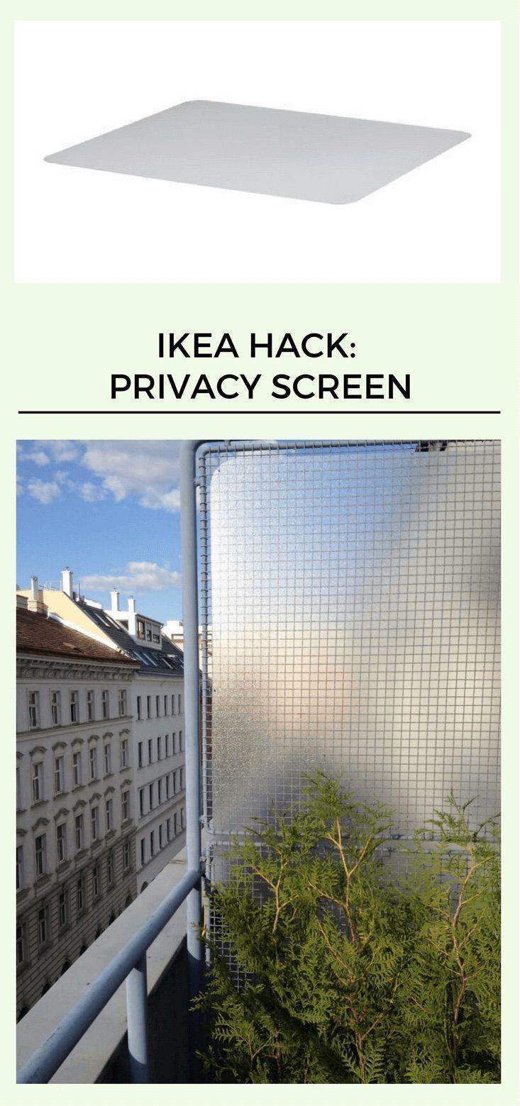 Dies ist eine großartige Idee für einen Balkon Sichtschutz. www.ikeahackers.n #balconyprivacyscreen