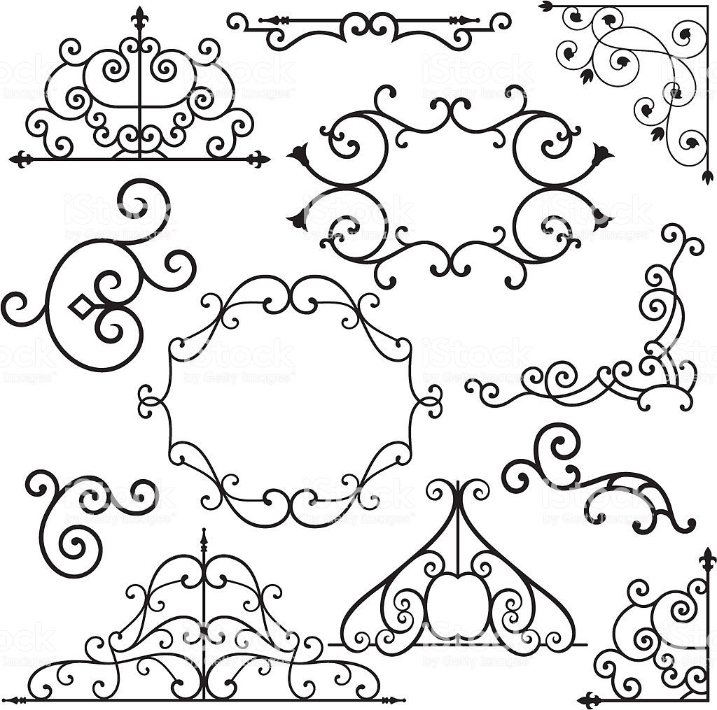 A Set Of 12 Exquisitive And Very Clean Ornamental Designs Wrought Iron Design Gothic Design Iron