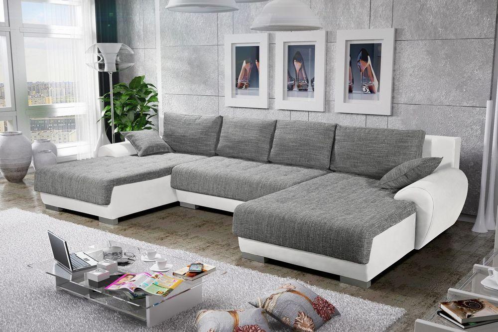 Sofa Couchgarnitur Couch Sofagarnitur LEON 4 U Polsterecke mit ...