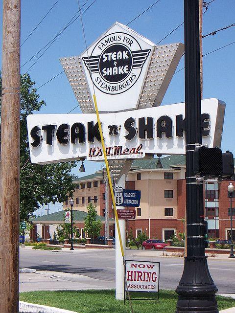 Springfield Mo Steak N Shake Sign Steak And Shake Pinterest