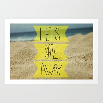 Let's Sail Away II Art Print by Leah Flores