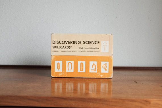 1970 Discovering Science Skillcards by MicroscopeTelescope on Etsy
