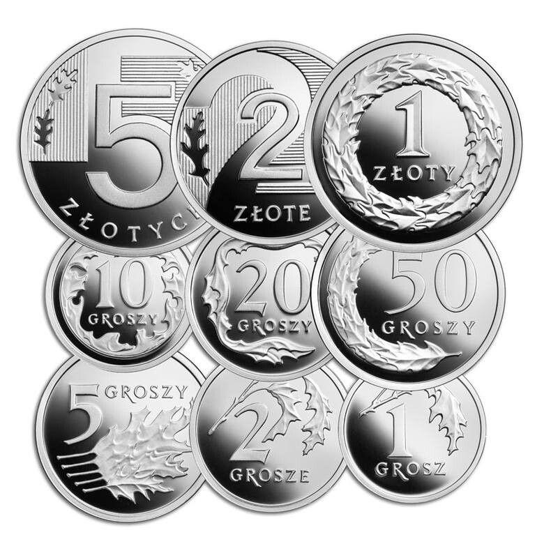 Zestaw Monet Kolekcjonerskich 100lat Zlotego 2019r Coins Stamp Fountain Pen