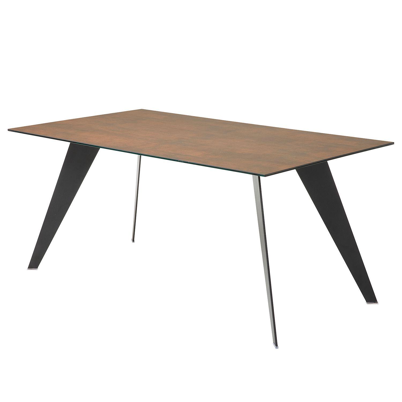 Esstisch Menosio Keramik / Stahl Braun Meliert 160 x