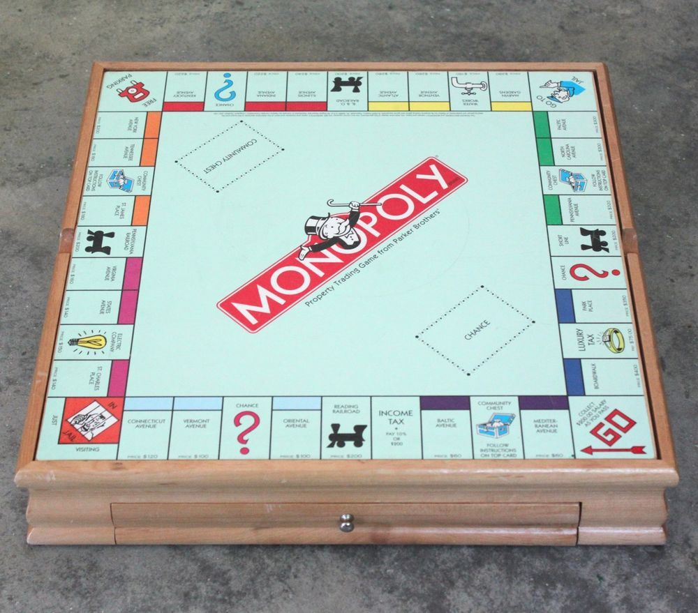 6 In 1 Parker Brothers Wood Monopoly Sorry Board Game Set With