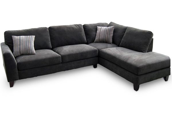Ordinaire Wonderful Grey Sectional Sofa With Chaise Roselawnlutheran Inside  Pertaining To Microfiber Plans 7