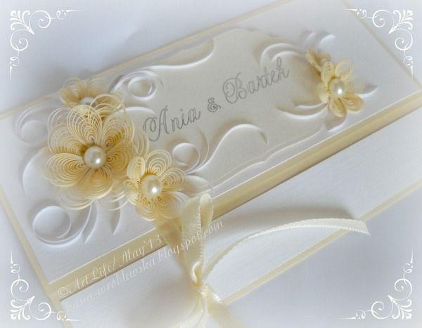 Quilled wedding invitation by katarzyna wroblewska kasia wroblewskaspot also rh ro pinterest