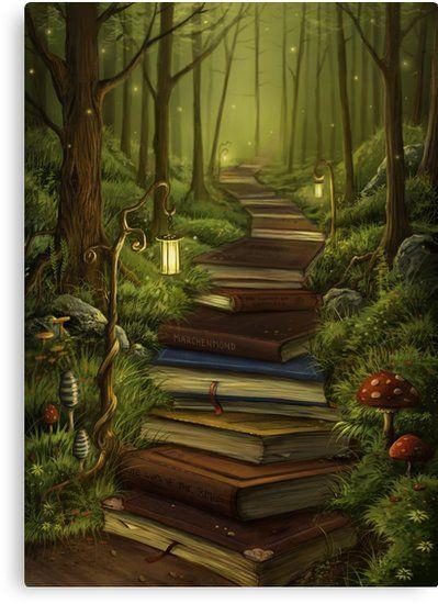 The Reader's Path Canvas Print