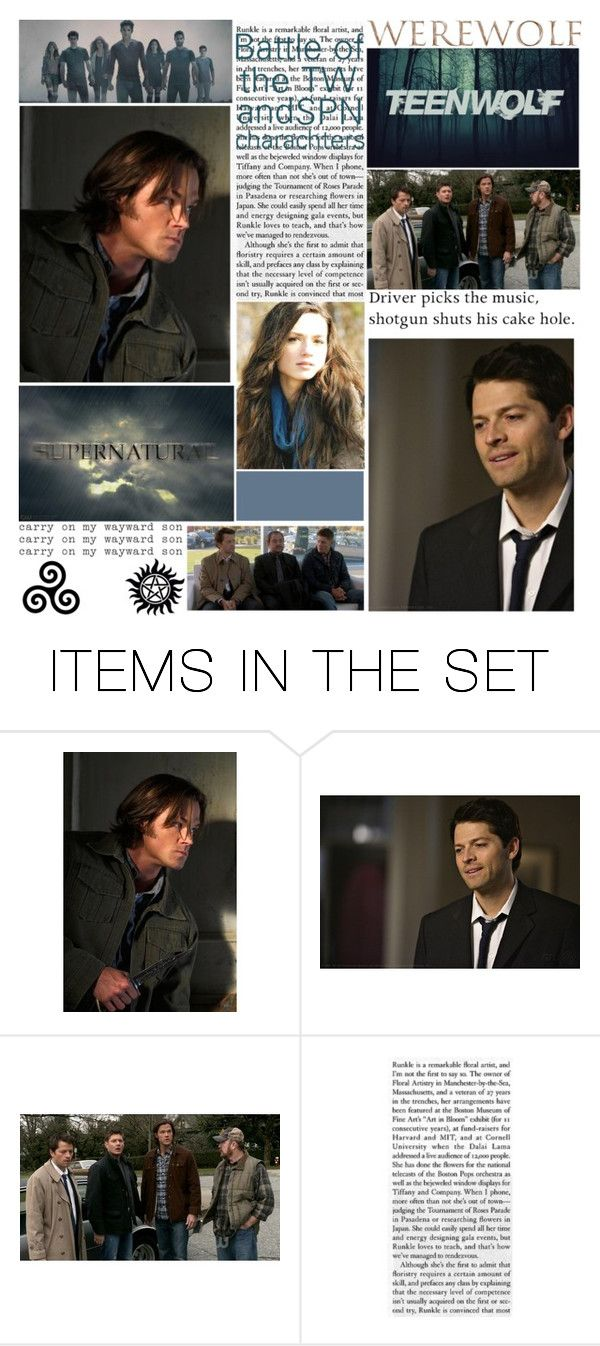 """""""BotTW & SPN characters"""" by fan-addx on Polyvore featuring art and BotTWandSPN"""