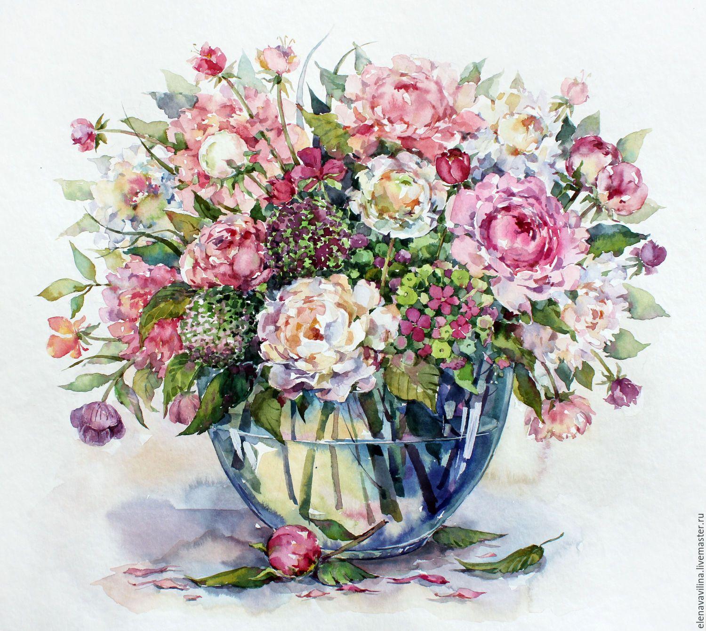букет цветов картинки акварель фото