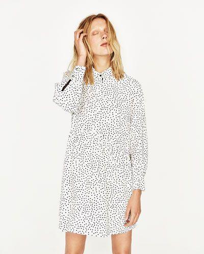 dce9f539d61d4 Image 2 of POLKA DOT SHIRT DRESS from Zara