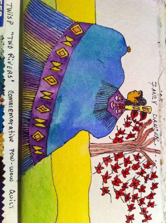Fancy Shawl Dancer - Lizzie's 1st Watercolor