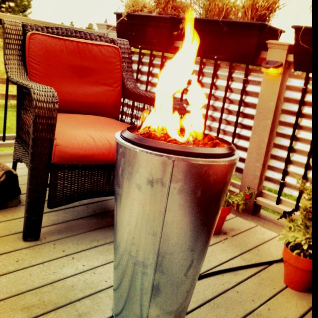 DIY Fire pit I made from a galvanized Ikea planter ...