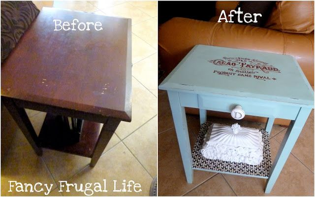 Before & After French Label End Table |