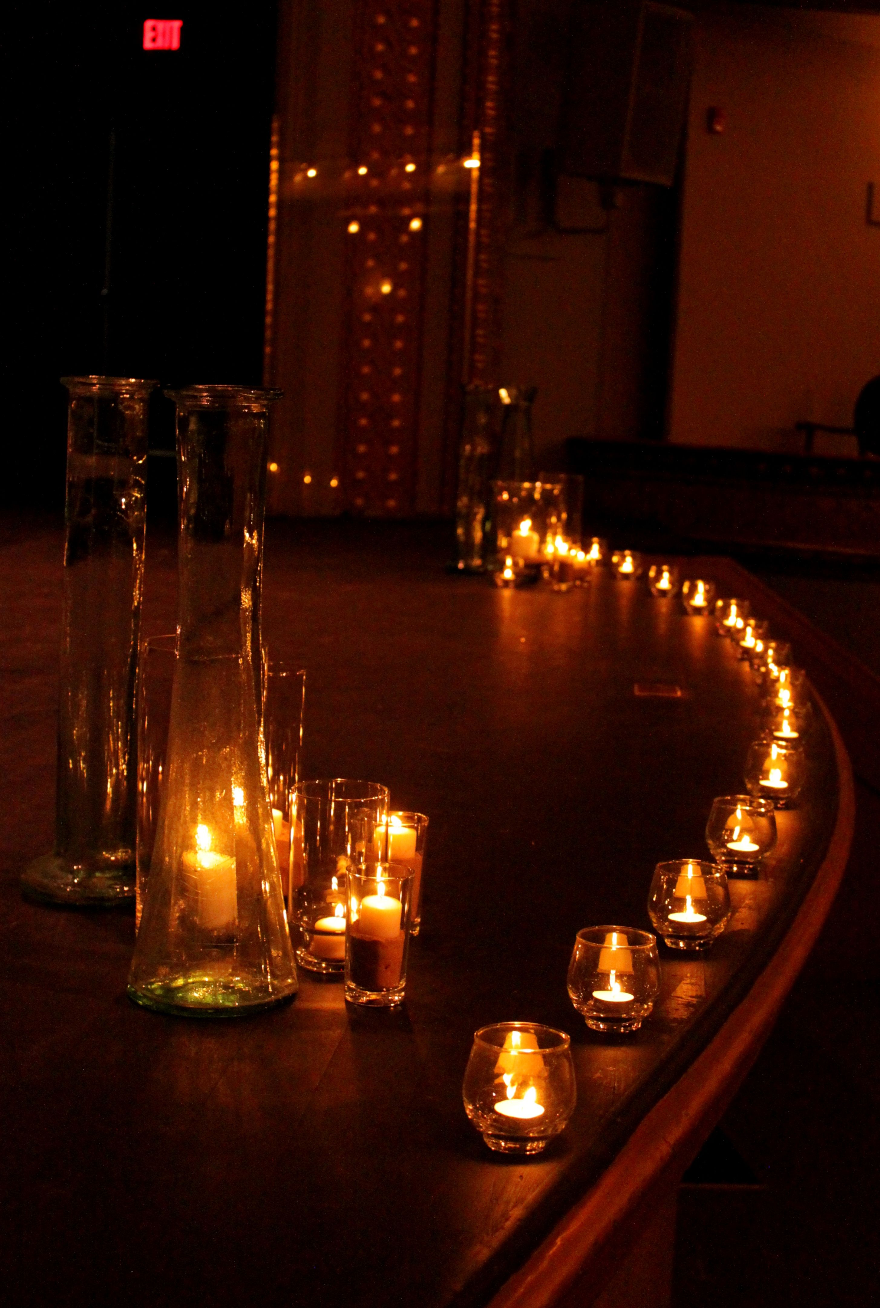 candle lit ceremony beautiful candles