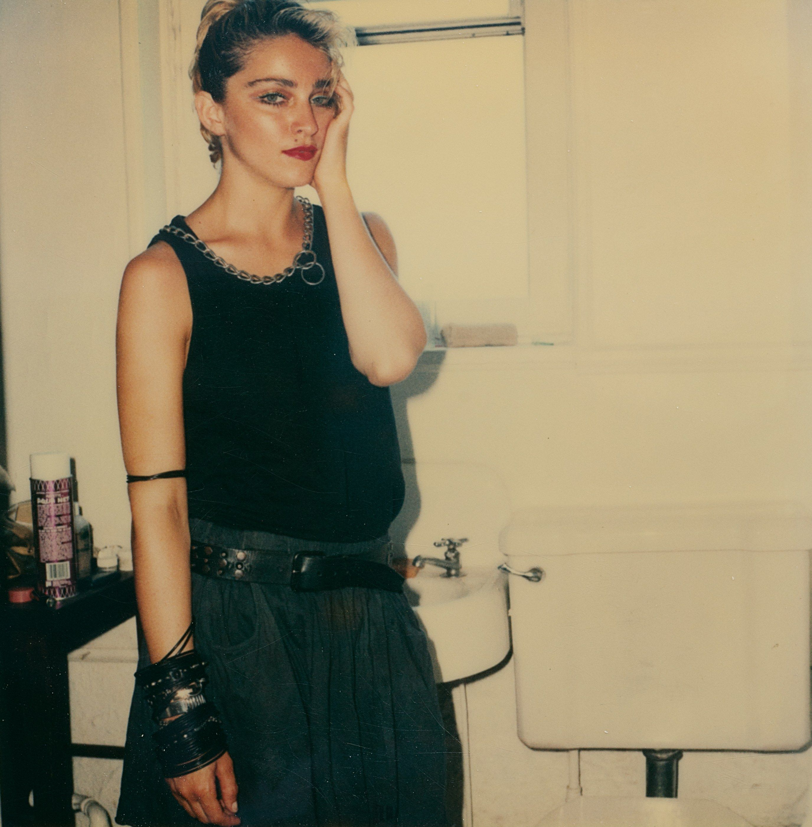 66 long-lost polaroids of madonna in 83 show a mega star