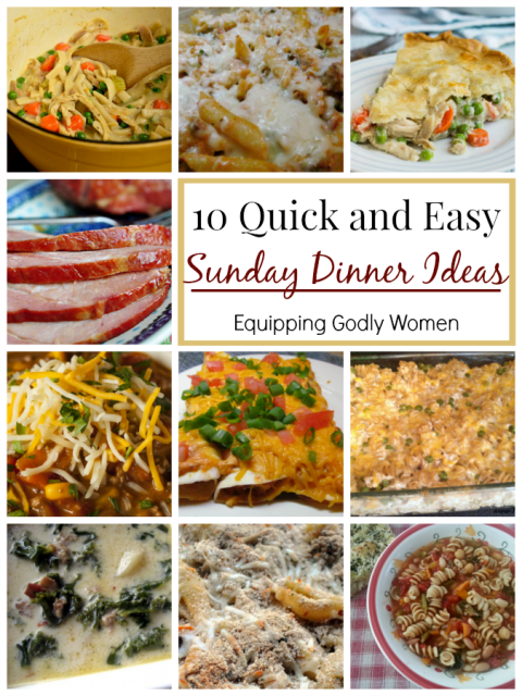 10 Quick And Easy Sunday Lunch Ideas For After Church Easy