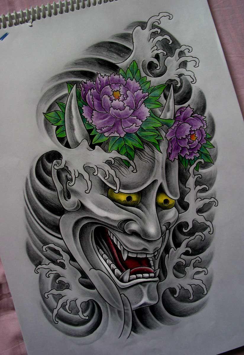 Tattoo Máscara Japonesa Hannya Traditional japanese
