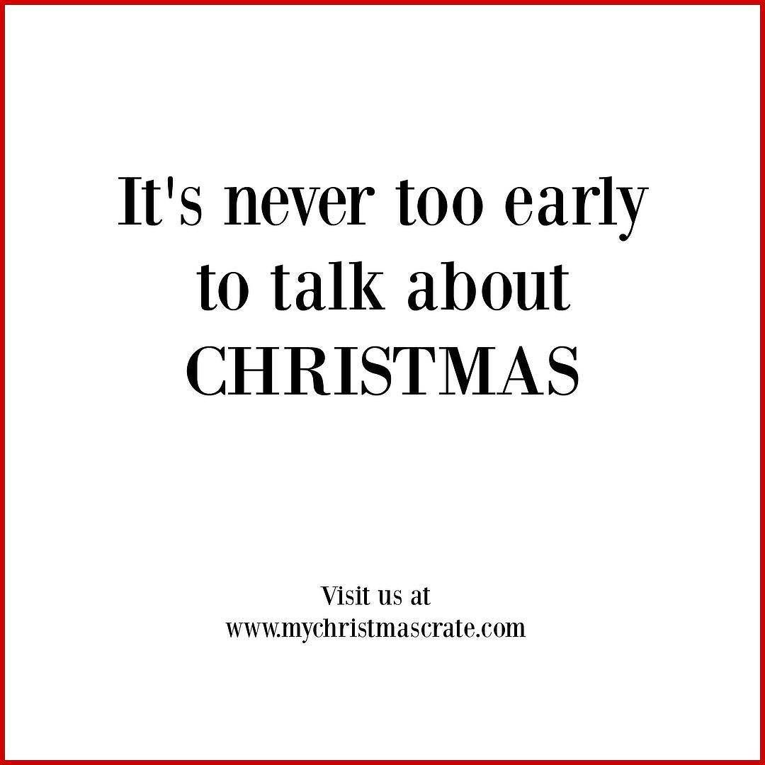 NOPE! Never..... Speaking of it\'s not too early to start shopping ...
